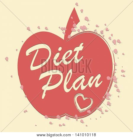 Diet Plan Represents Lose Weight And Agenda