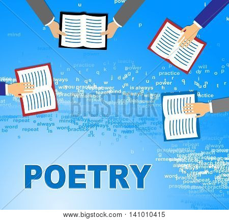 Poetry Books Means Literature Information And Rhyme