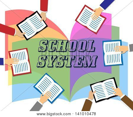 School System Represents Systems Books And College