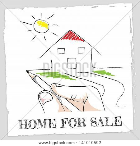 Home For Sale Shows Buy Household And Houses