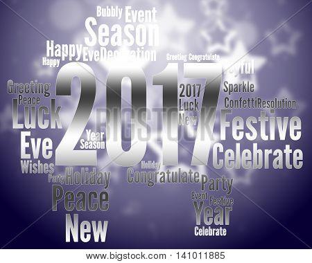 Twenty Seventeen Represents Happy New Year And Celebrate