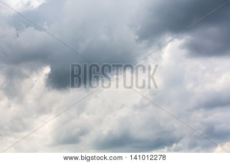Dark Clouds Before Storm During Rainy Day