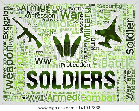 Soldiers Words Means Comrade In Arms And Gi