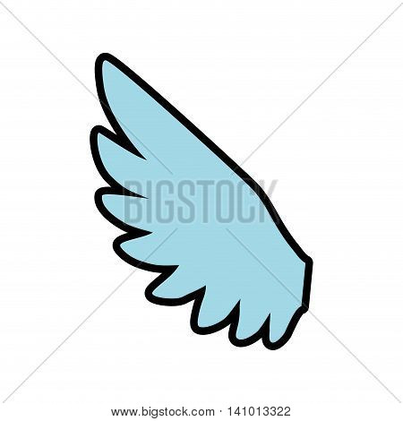 wing feather animal bird angel icon. Isolated and flat illustration. Vector graphic