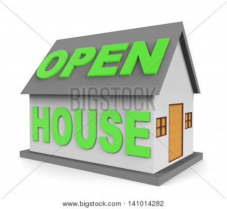 Open House Shows Real Estate And Apartment 3D Rendering