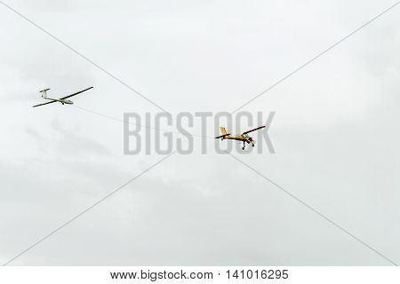 Airplane Towing Glider