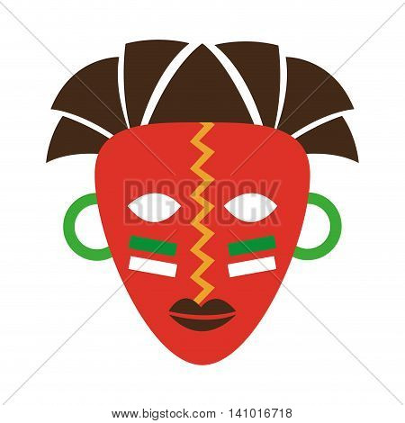 mask african culture icon vector illustration design
