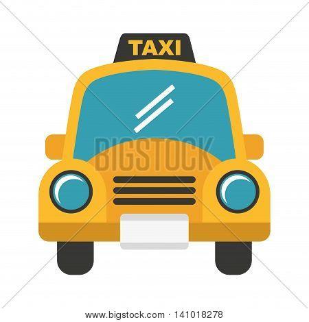 taxi car service public icon vector illustration design