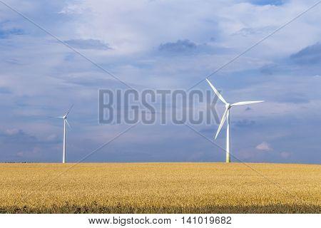 Wind Generator In Rural Landscape