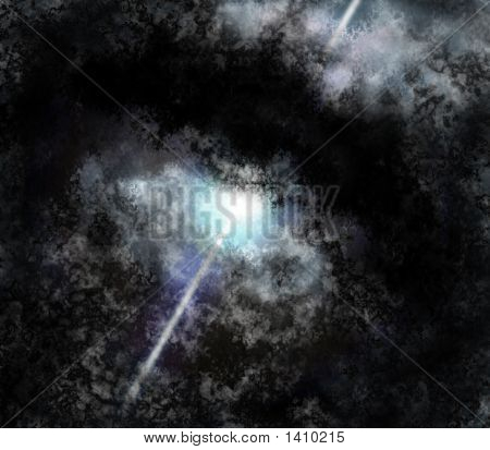 Pulsar Star In Dust Torus