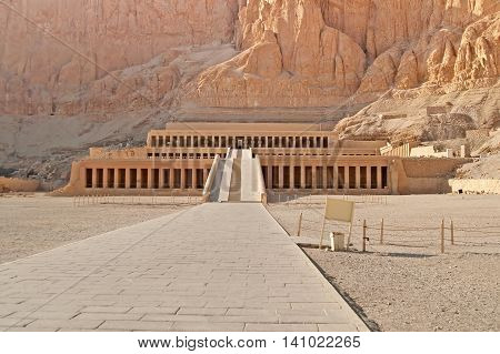 Famous Palace of Hatshepsut in Luxor, Egypt