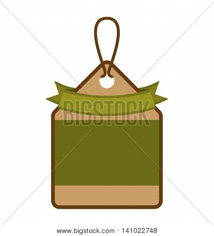 ecology tag hanging icon vector illustration design