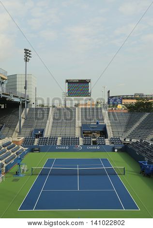 Grandstand Stadium at the Billie Jean King National Tennis Center ready for US Open tournament