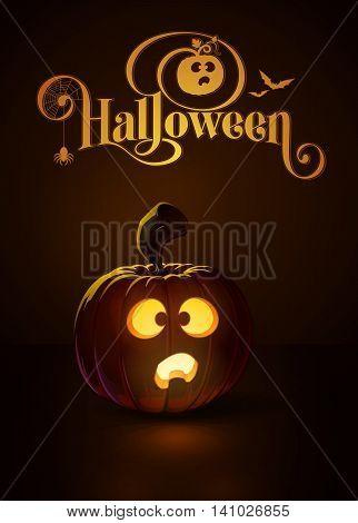 Jack-o-lantern Dark Scared