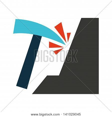 pick tool construction icon vector illustration design vector illustration design