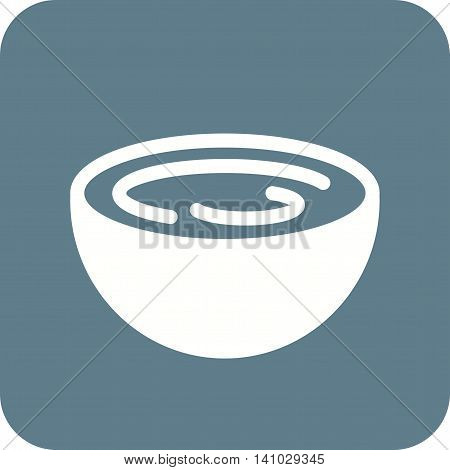 Cream, bowl, taste icon vector image. Can also be used for spa. Suitable for mobile apps, web apps and print media.