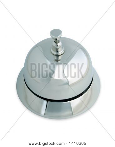 Service Bell Isolated On White With Path