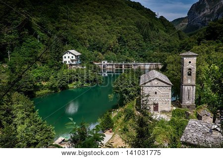 Garfagnana Tuscany Italy - Isola Santa is a ghost village at the heart of Apuan Alps
