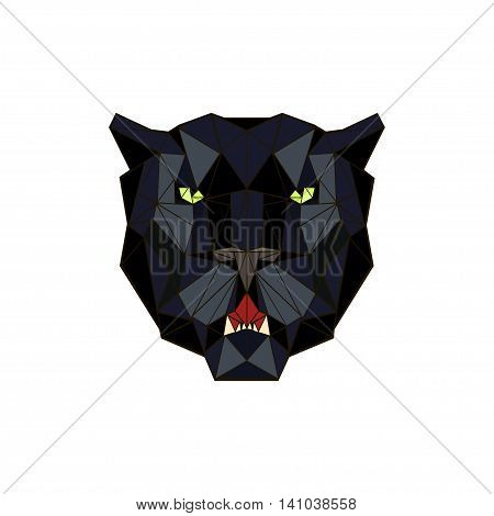vector illustration abstract portrait of a panther