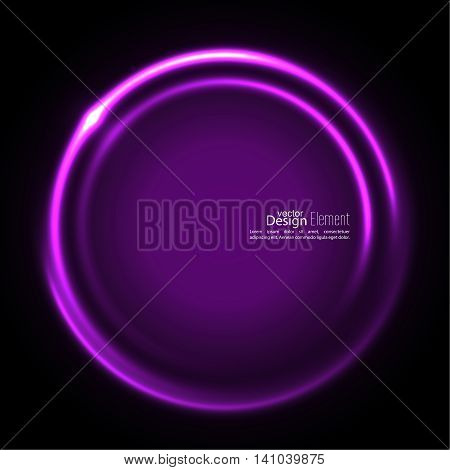 Abstract background with luminous swirling backdrop. Intersection curves. Glowing spiral. The energy flow tunnel. Vector. purple, lilac, mauve, violet magenta
