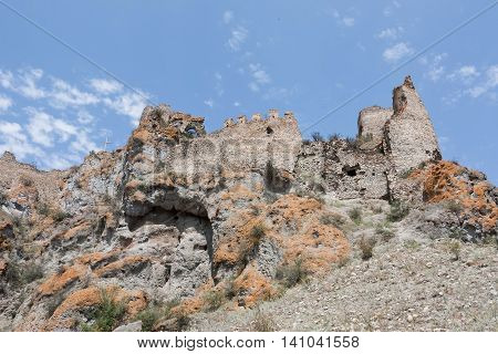 Ruins of a medieval fortress. Republic of Georgia