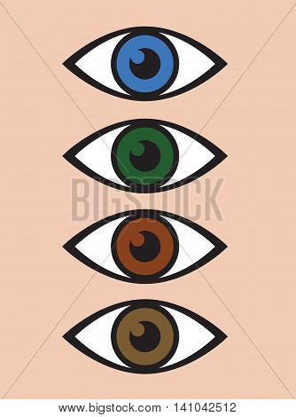 an abstract eye icon set background