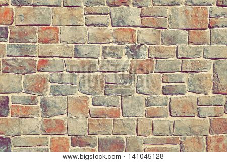 Modern Stonewall Backround Texture Decorated With Multicolored Natural Stone Tiles
