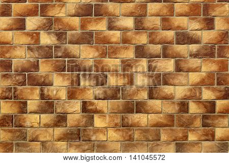 Modern Vintage Stone Tiled Wall From Rectangular Textures Tiles Background