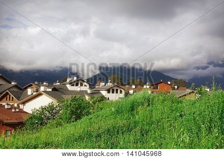 Roza Khutor Plateau Alpine Ski Resort Summer Landscape, Sochi, Russia