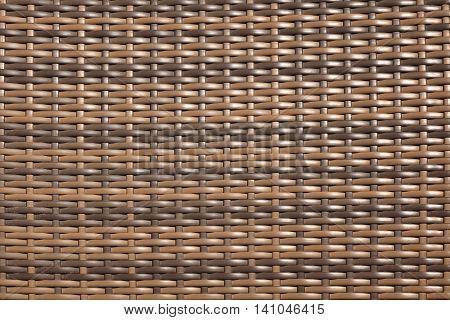 Brown Wicker Artificial Rattan Material Surface Texture Background