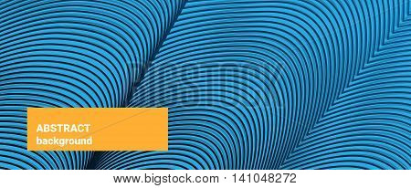 Abstract backgroung. Irregular striped texture. Blue wave pattern for Web, website, mobile app.