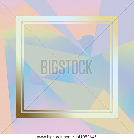 Holographic background with triangles. Modern trendy hologramic background. Cool simply illustration.