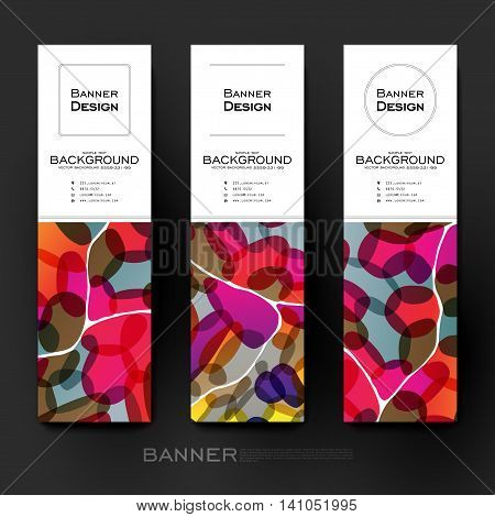 Beautiful banner vector template with abstract background. Creative modern design