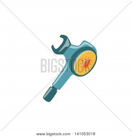 Regulator Second Stage With Mouthpiece Bright Color Cartoon Simple Style Flat Vector Illustration Isolated On White Background