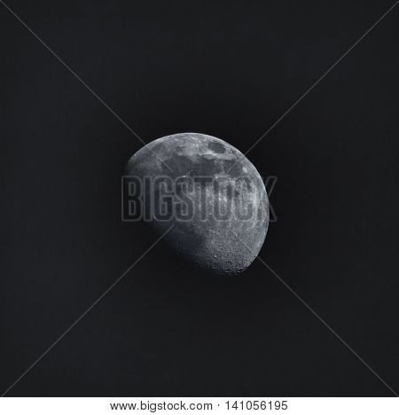 Detailed shot of the Moon at night over dark sky