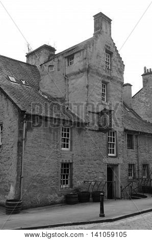 A view of a medieval building in the old town of Dunfermline