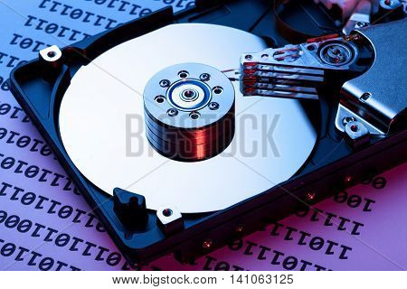 Hard Disk Drive with Binary Code Page
