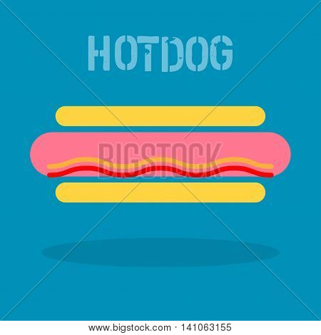 Abstract hotdog icon or background. Vector illustration