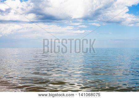 Gray And White Clouds Over Azov Sea