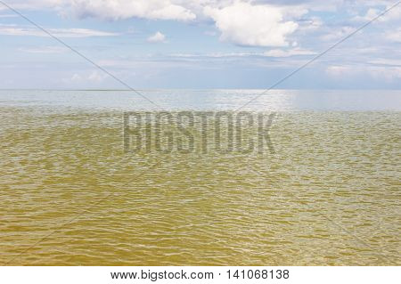 Yellow Green Water Sea Of Azov
