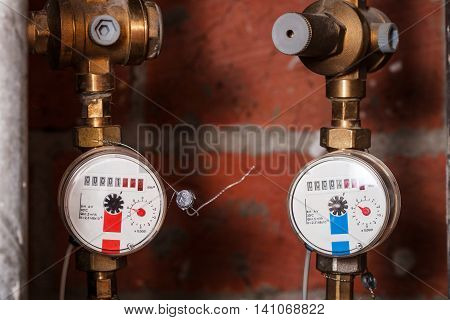 Pair New Residential Water Meters