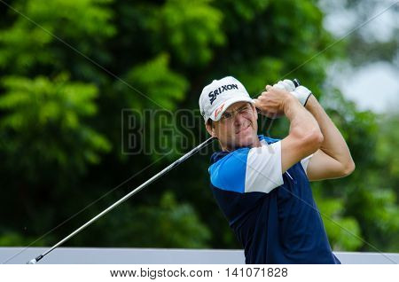 CHONBURI - JULY 31 : Jason Knutzon of USA in King's Cup 2016 at Phoenix Gold Golf & Country Club Pattaya on July 31 2016 in Chonburi Thailand.