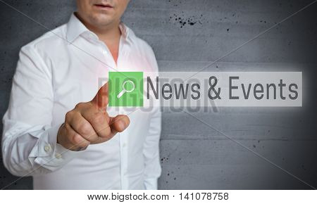 News And Events Browser Is Operated By Man Concept