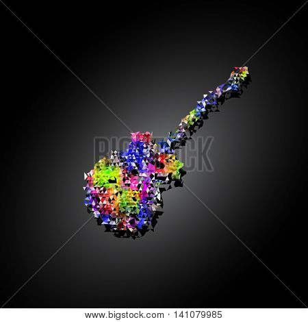 Guitar polygon color easy all editable
