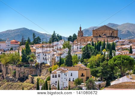 Ronda, Spain old town cityscape.