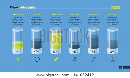Cylinder chart. Element of presentation, bar chart, diagram. Creative concept for business templates, infographics, marketing reports. Can be used for topics like marketing, analysis, research