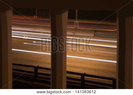 Car Traffic On A Highway In The Evening