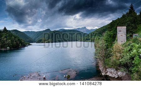 Garfagnana Tuscany Italy - Lago di Vagli Vagli lake