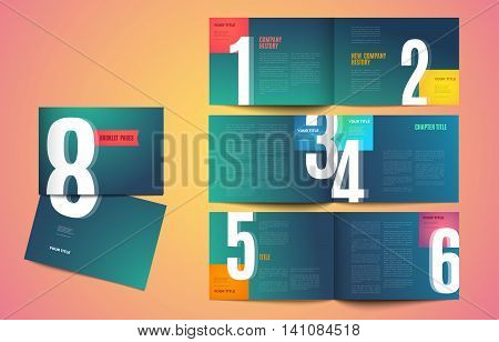 Graphic design book template. Color creative pages and cover design with your text photo or illustrations. vector eps10 modern template for portfolio magazine company catalog corporate brochure