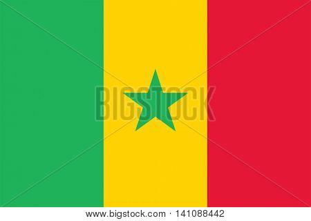 Vector Senegal national flag